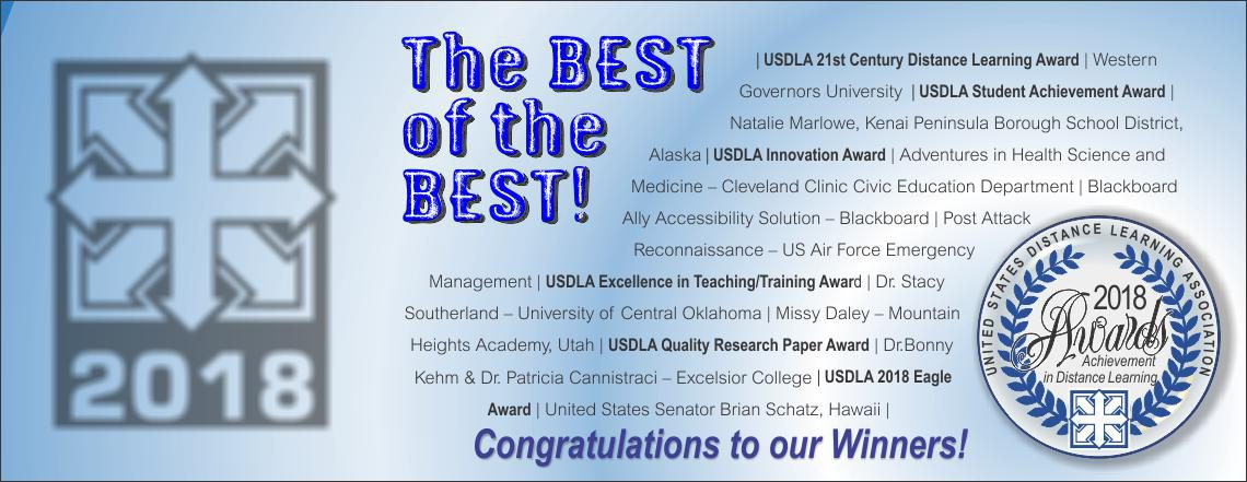 USDLA 2018 International Awards Winners!!